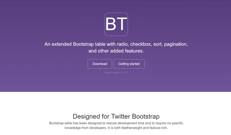 BootstrapTable